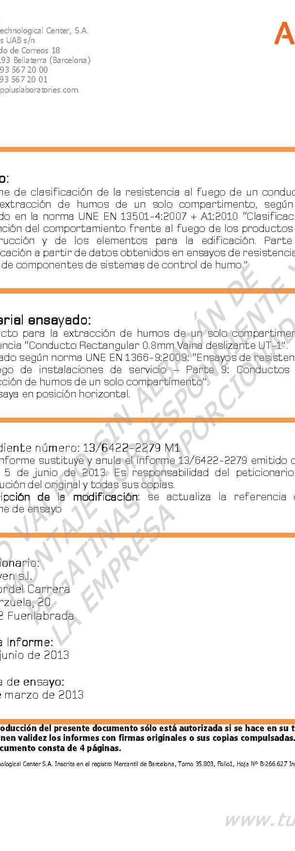 Certificado E600_120 VAINA