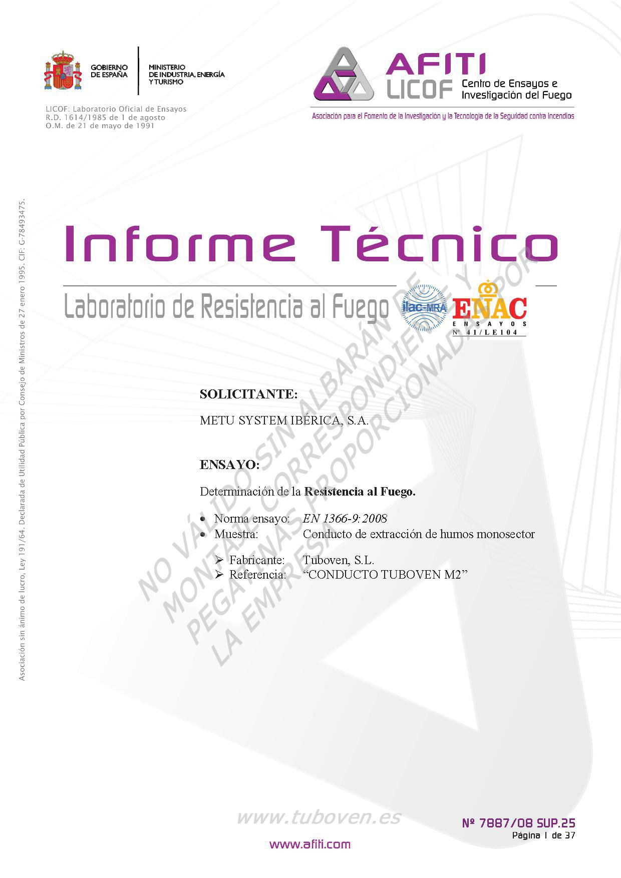 INFORME TÉCNICO M-20 0,8mm 1250 x 1000