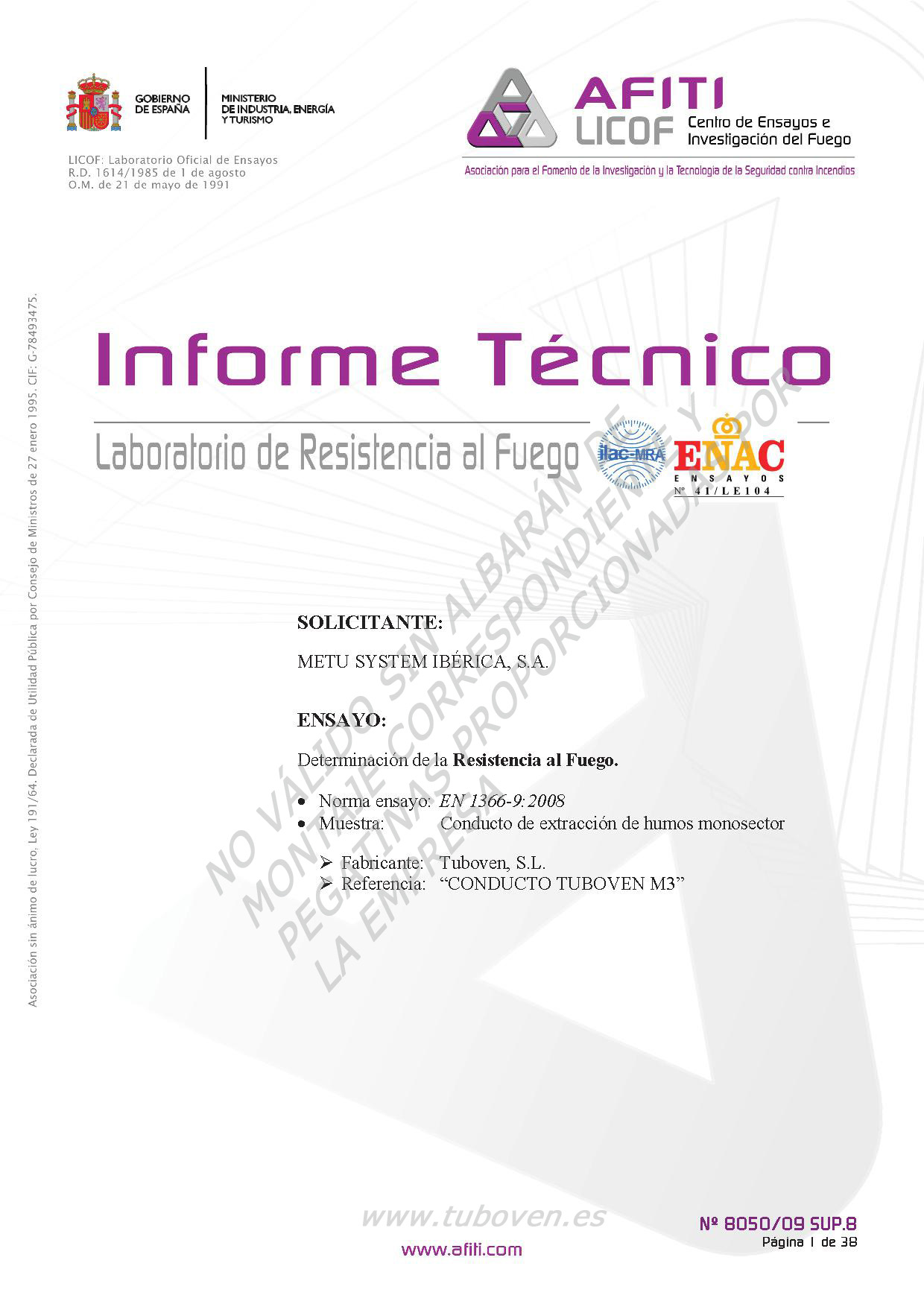 INFORME TÉCNICO M-30 1mm 2000 x 600