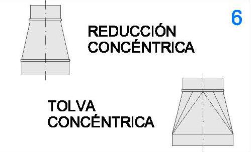 Reducción y Tolva Concéntrica