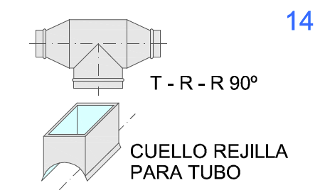 T-R-R 90º y Cuello de Rejilla