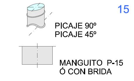Picaje 90º-45º y Manguito P-15