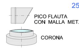 Pico Flauta y Corona