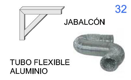 Jabalcón y Tubo Flexible