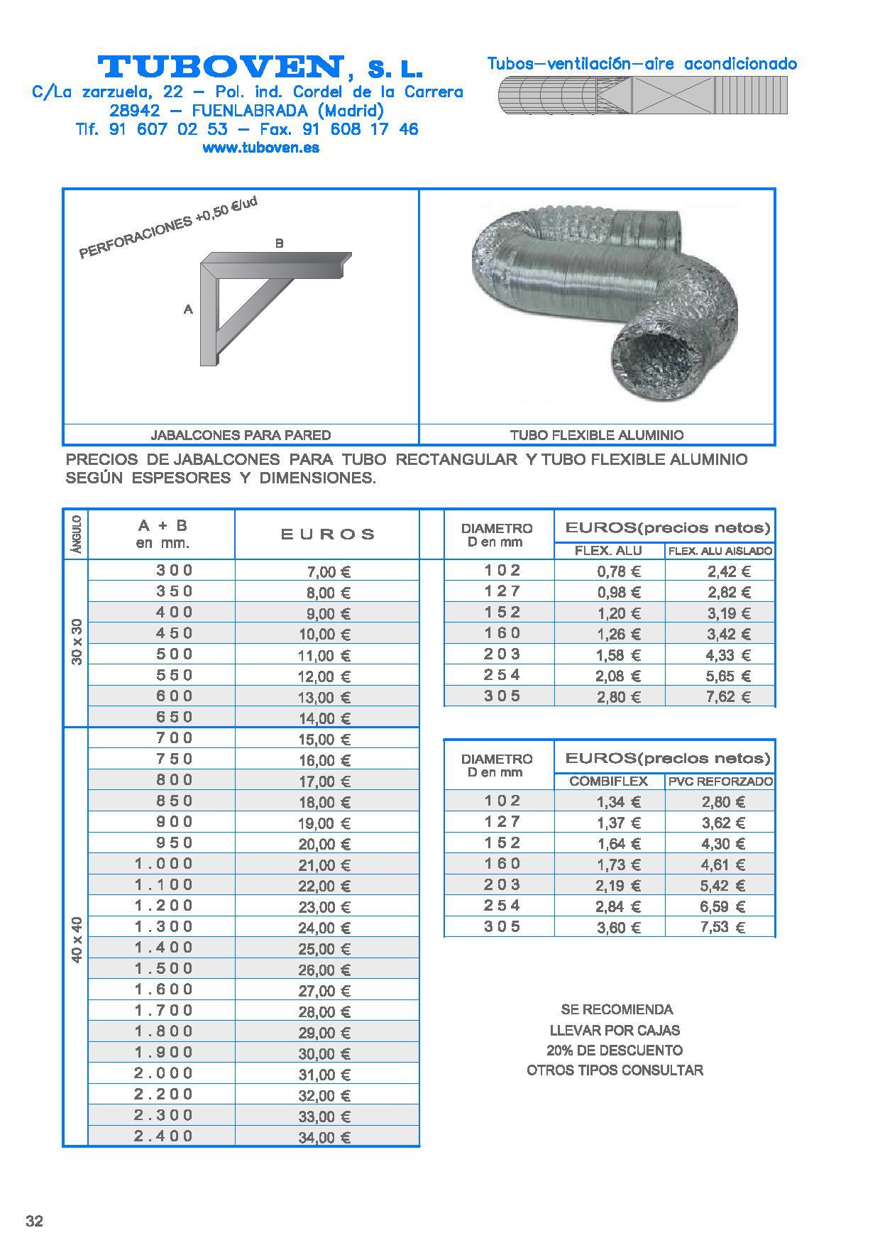 Detalle - Jabalcon y Tubo Flexible